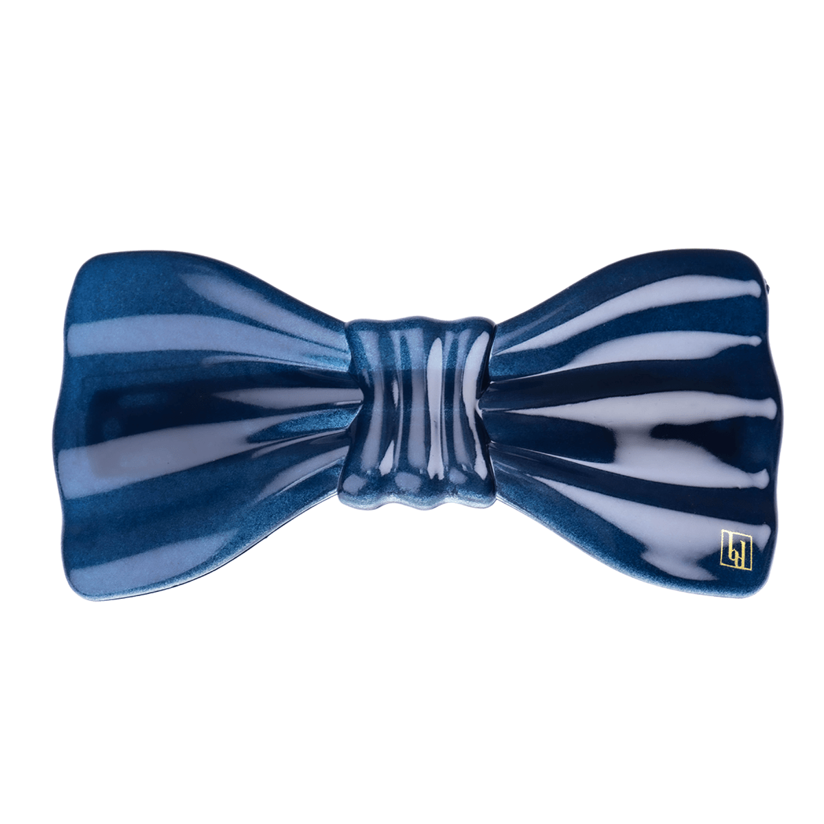 Large bow clip navy
