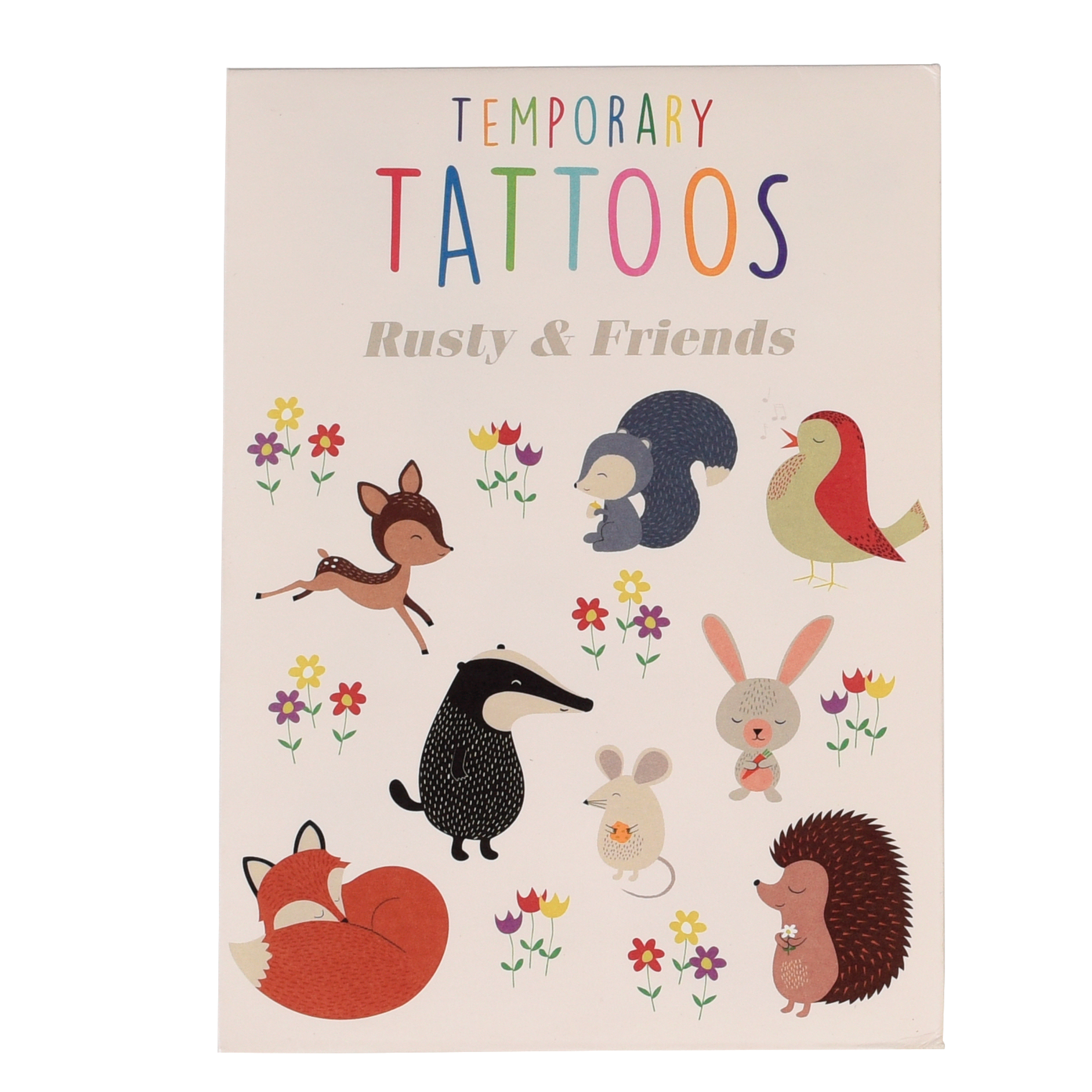 RUSTY & FRIENDS TEMPORARY TATTOOS (2 SHEETS)