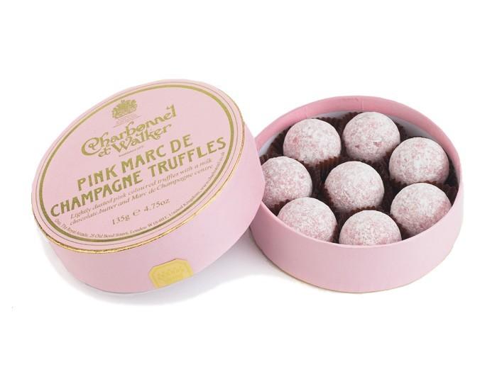 Charbonnel et walker - Pink Marc De Champagne Truffles, 135g/8 pieces