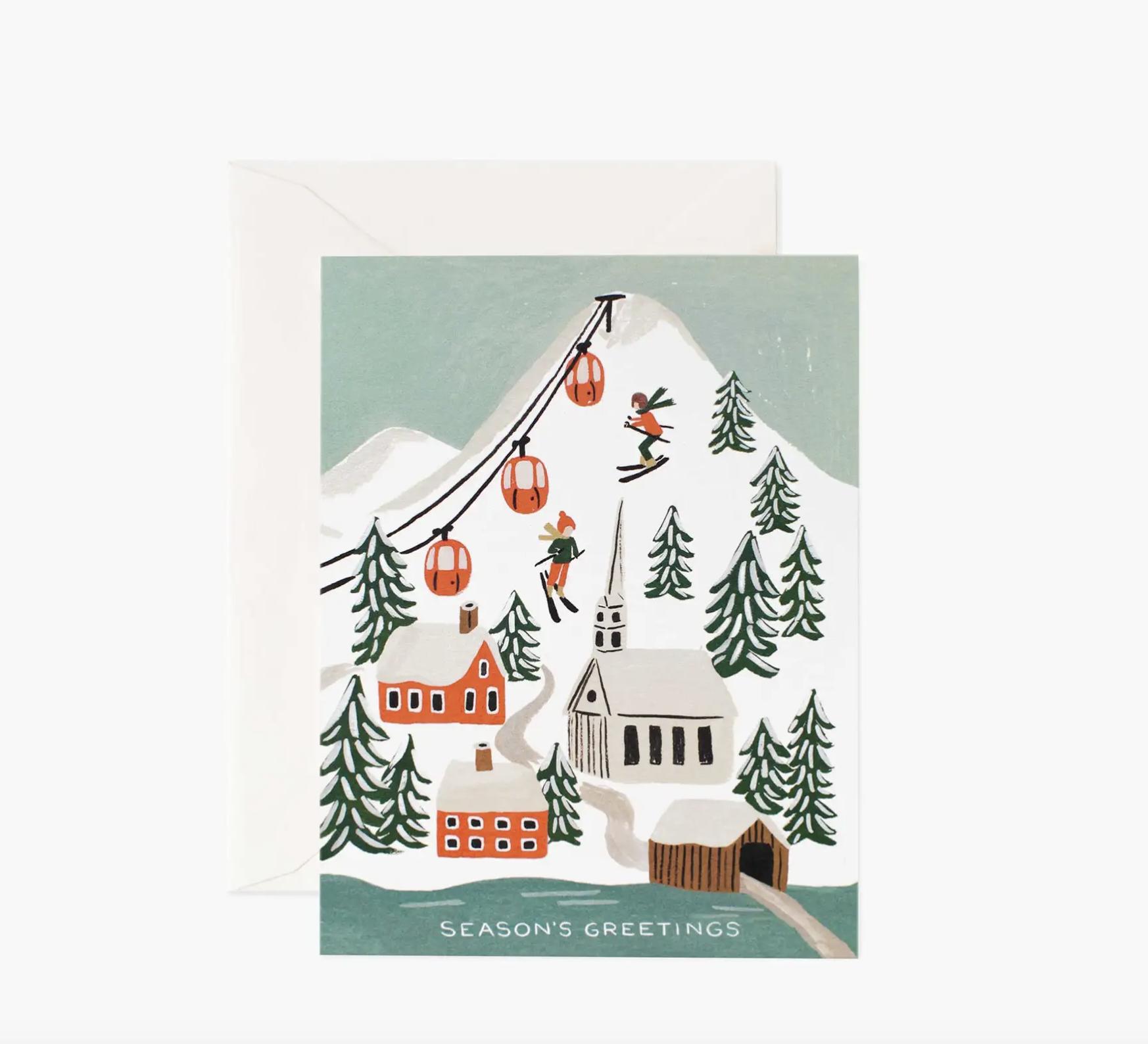 JULEKORT - Holiday Snow Scene Card