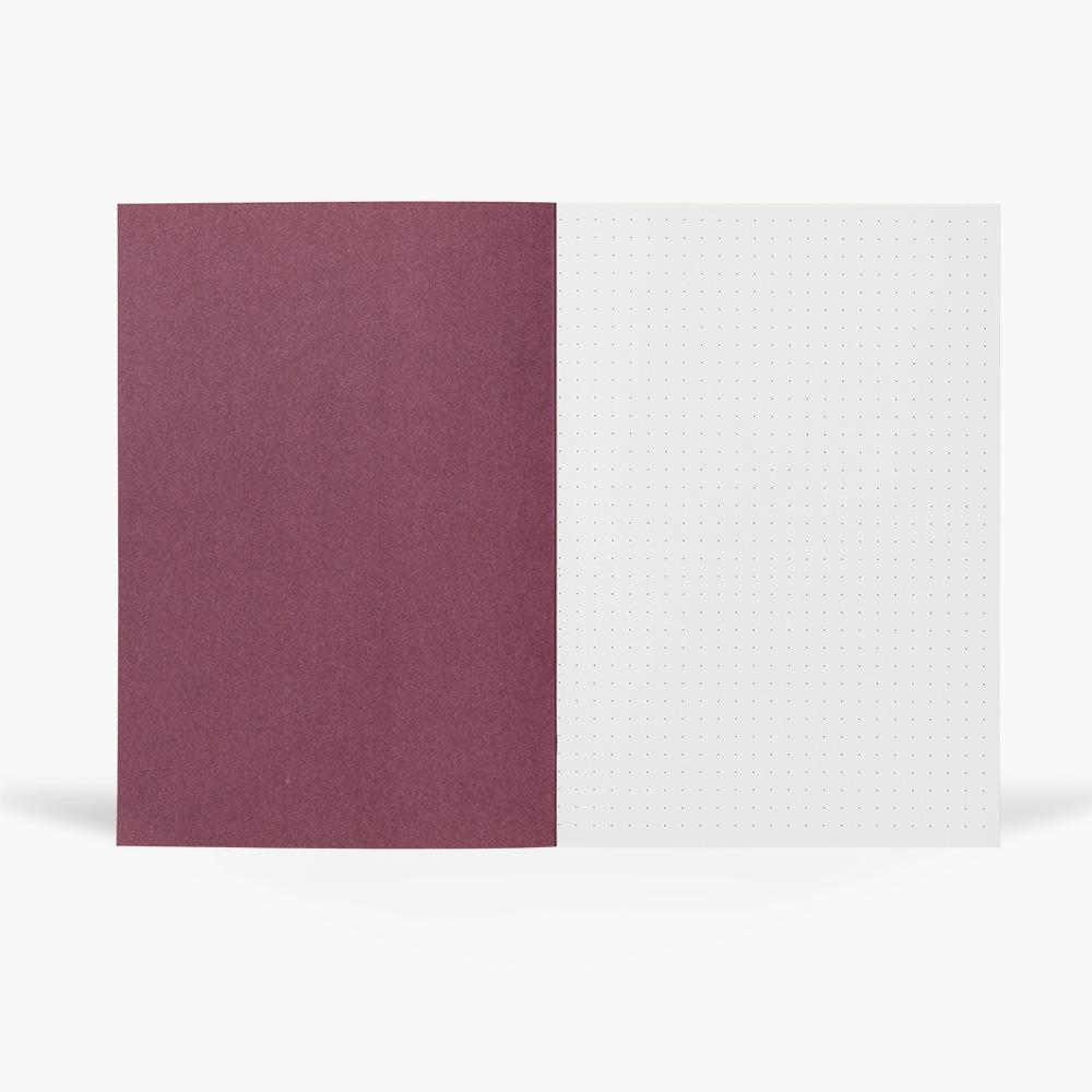 NOTEM - VITA Notebook, Medium - Ochre Lines