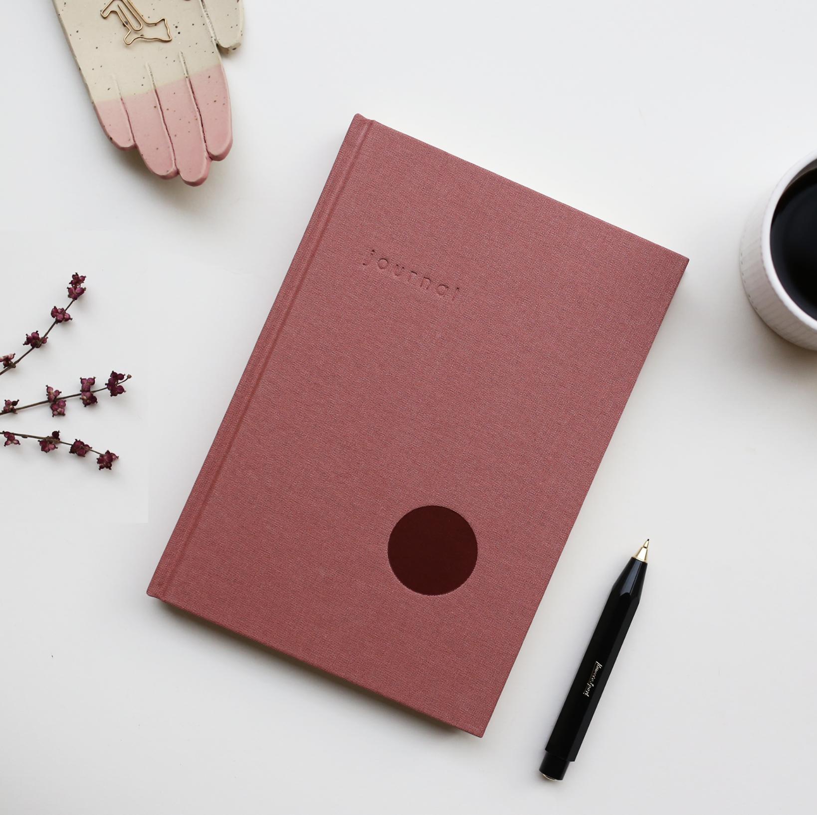 KARTOTEK - Hardcover journal, rose