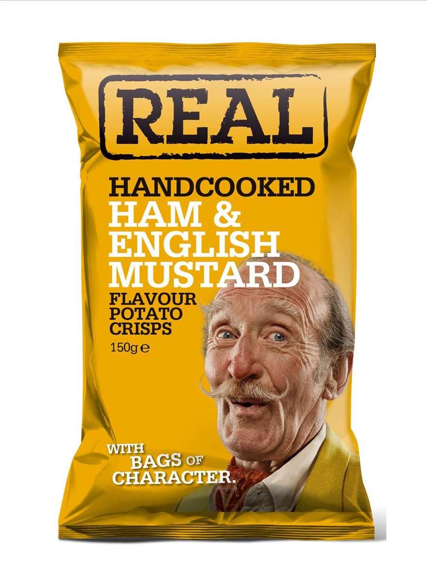 Real Crisps Ham & Mustard