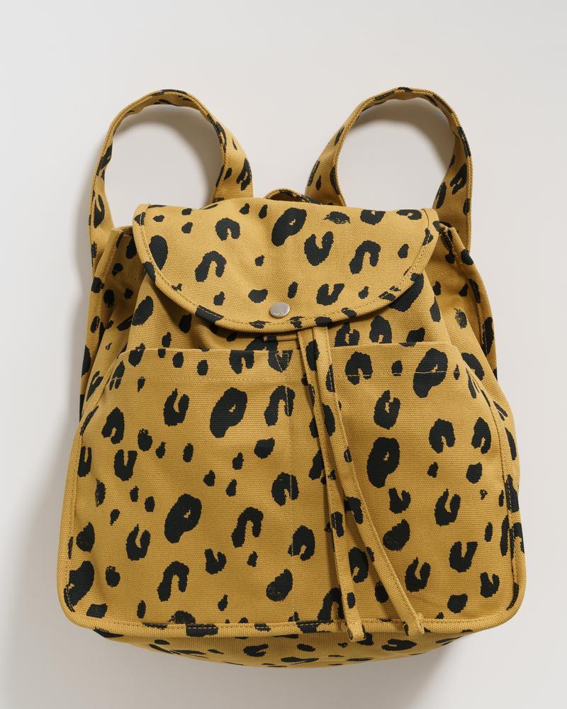 BAGGU - Drawstring Backpack, Leopard