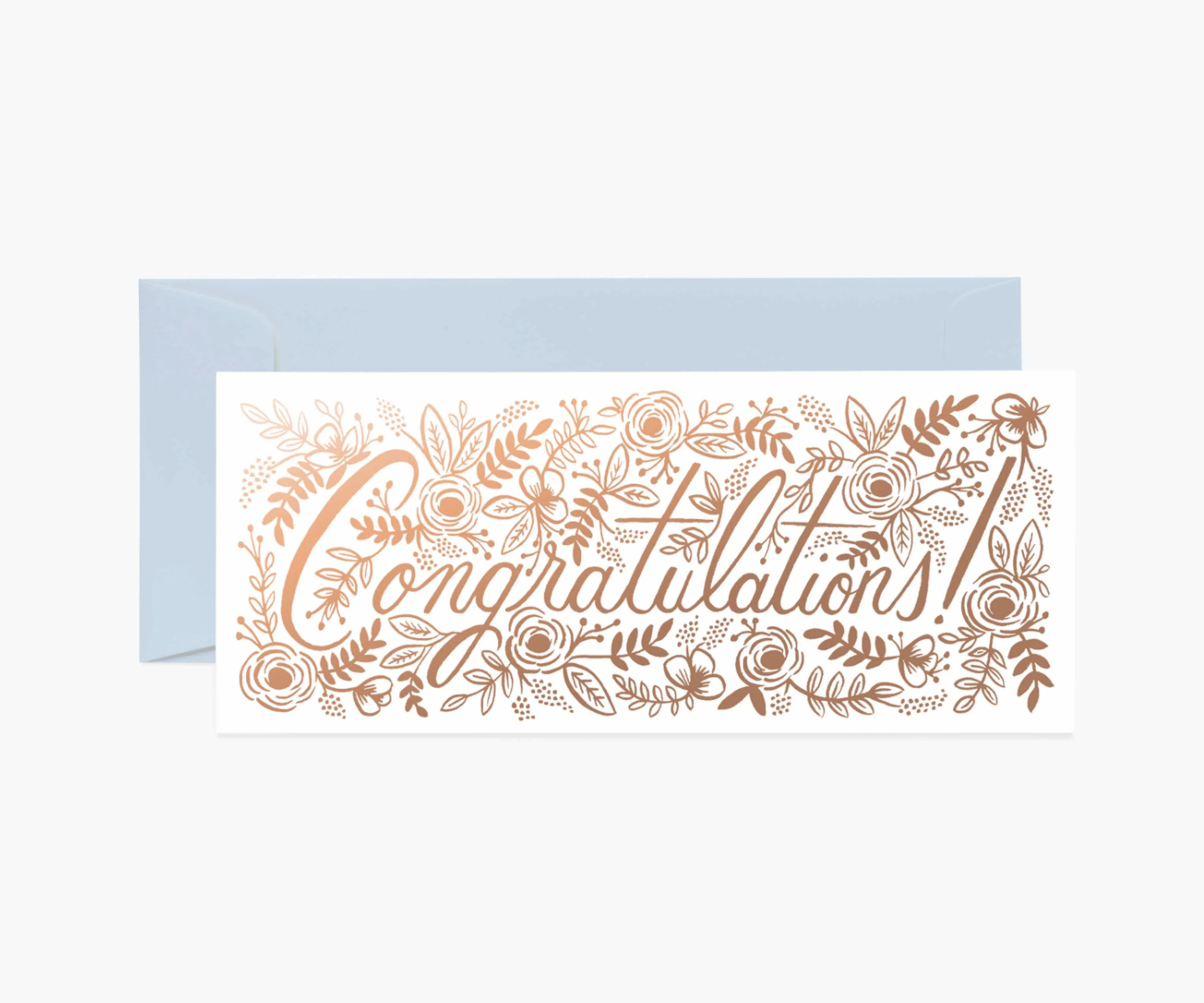 RIFLE - Kort, Champagne floral congrats card
