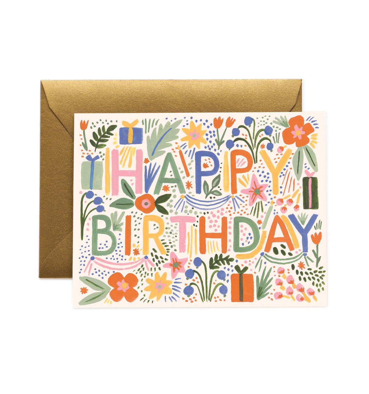 RIFLE - Fiesta Birthday Card