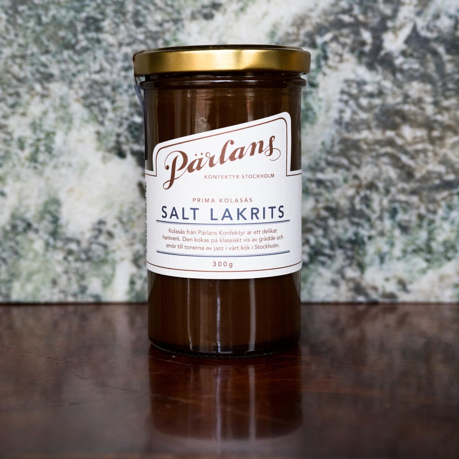 PÄRLANS - Karamellsaus med salt lakris