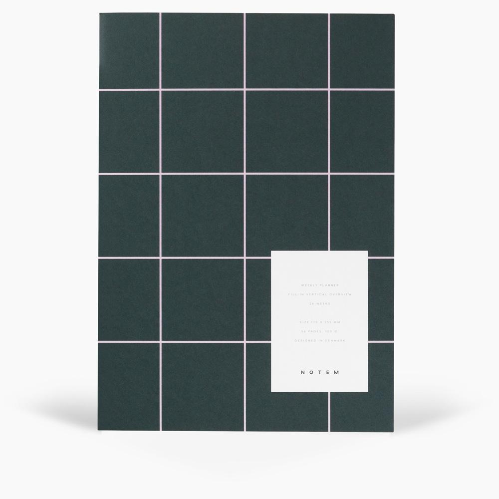 NOTEM - MILO Weekly Planner Book - Dark Green