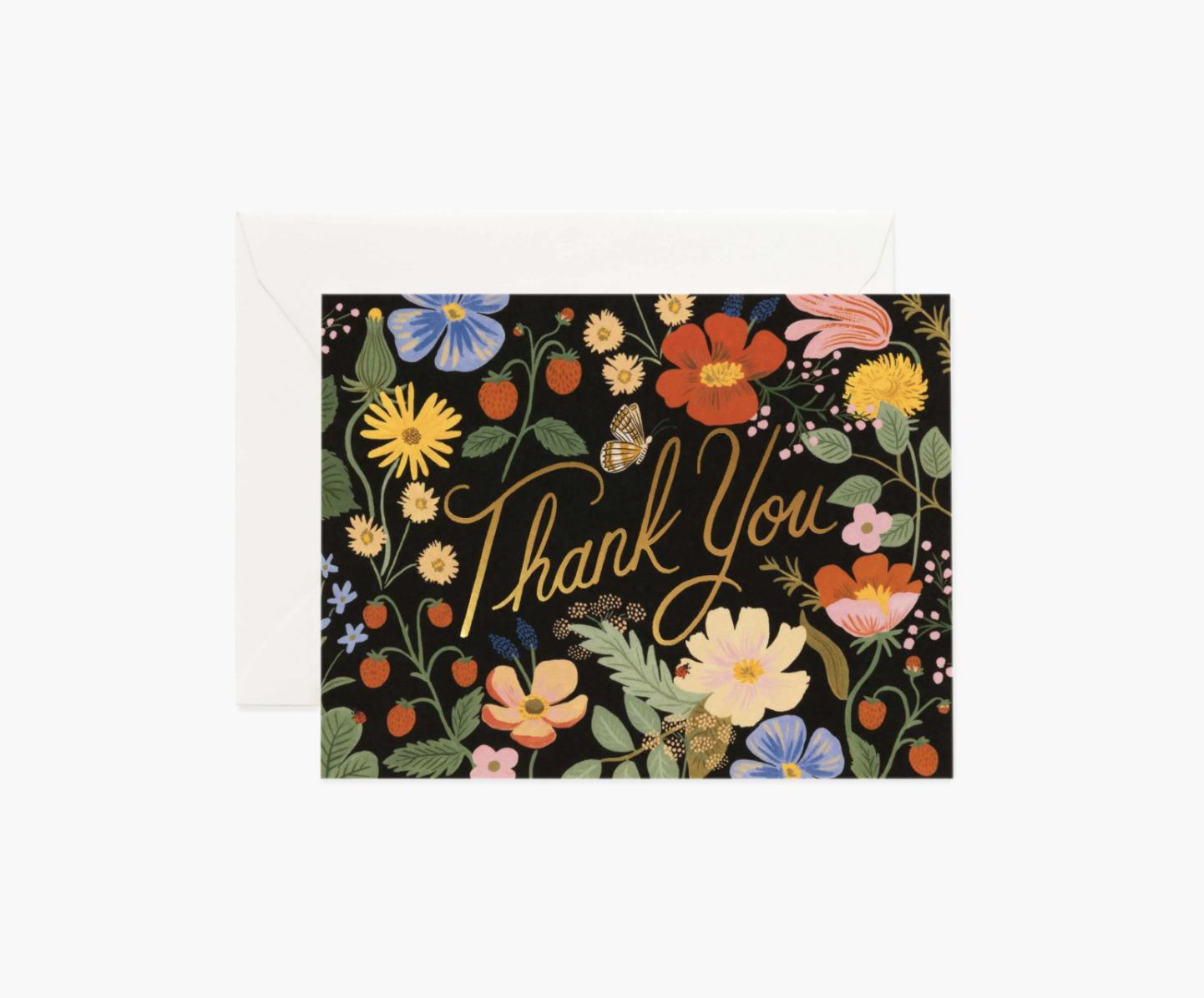RIFLE - Kort, Strawberry fields thank you card