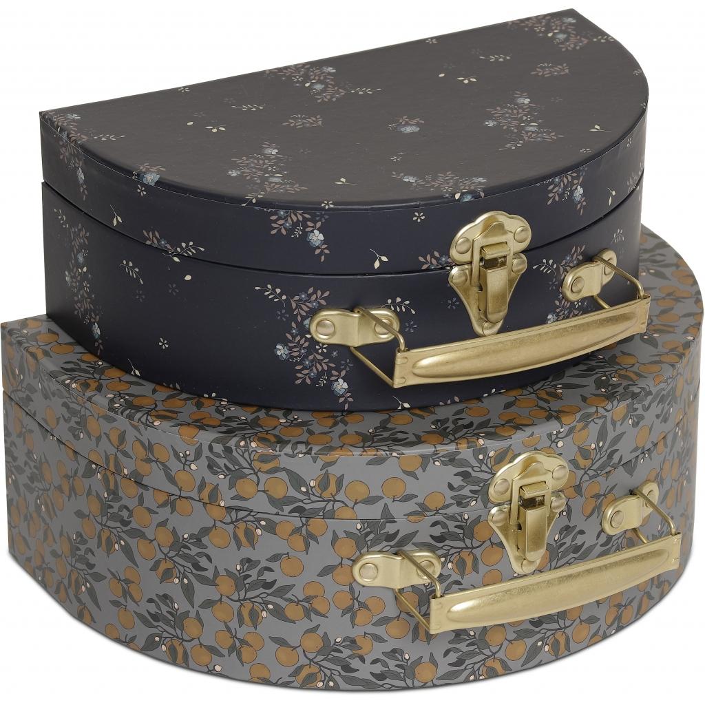 Konges Sløjd - 2pk luggage round ( ORANGERY BLUE/NOSTALGIE BLUE)