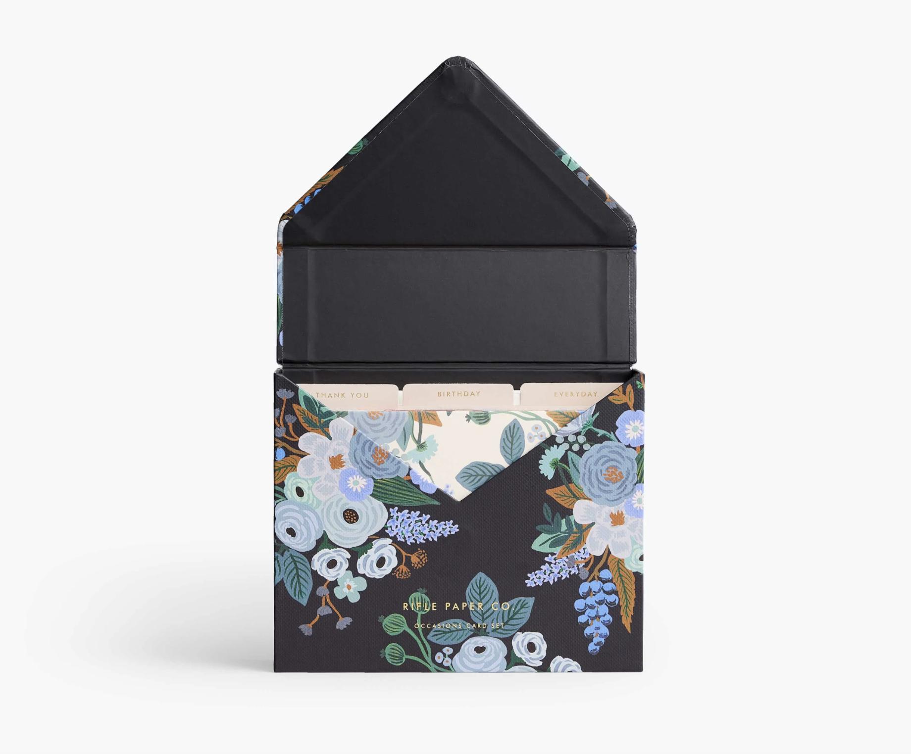 RIFLE - Garden Party Blue Essentials Card Box