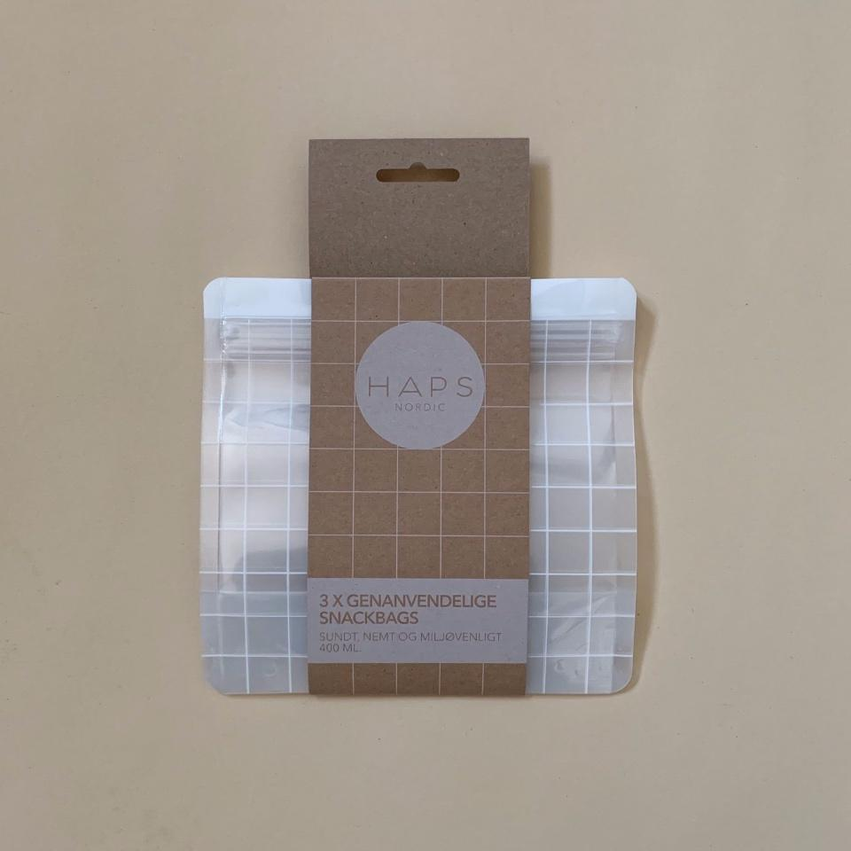 HAPS - 3 pk Check Snack bags 1000 ml