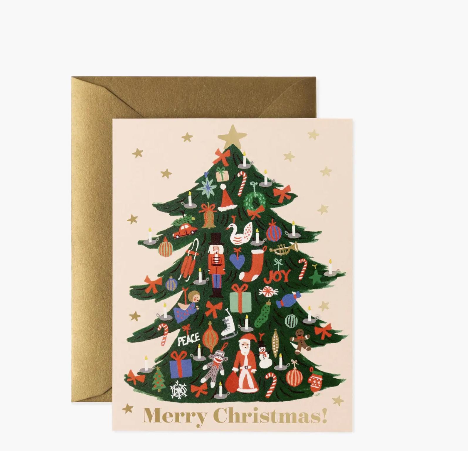JULEKORT - Trimmed Tree Card