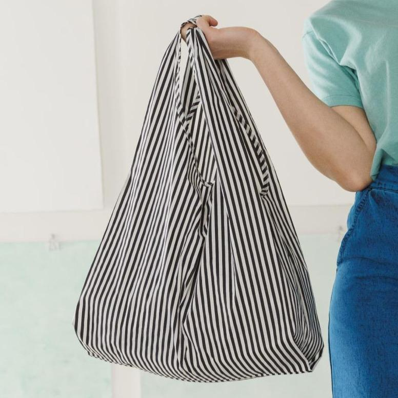 BAGGU - Black & White Stripe