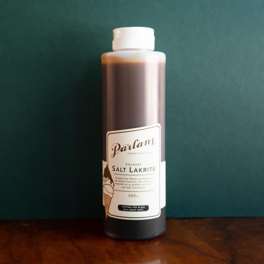 PÄRLANS - Karamellsaus på flaske 250 ml, Salt lakris
