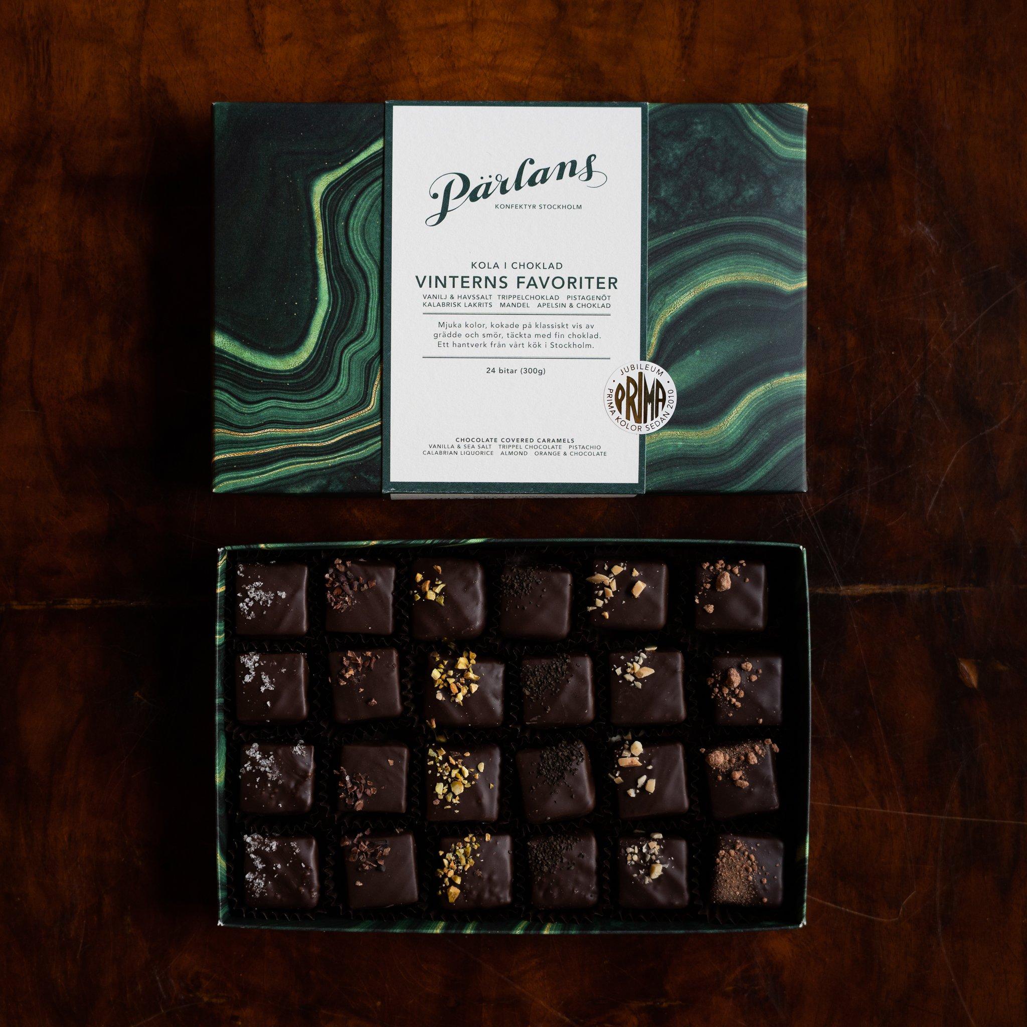 Pärlans - Karamell i sjokolade, 24 bitar