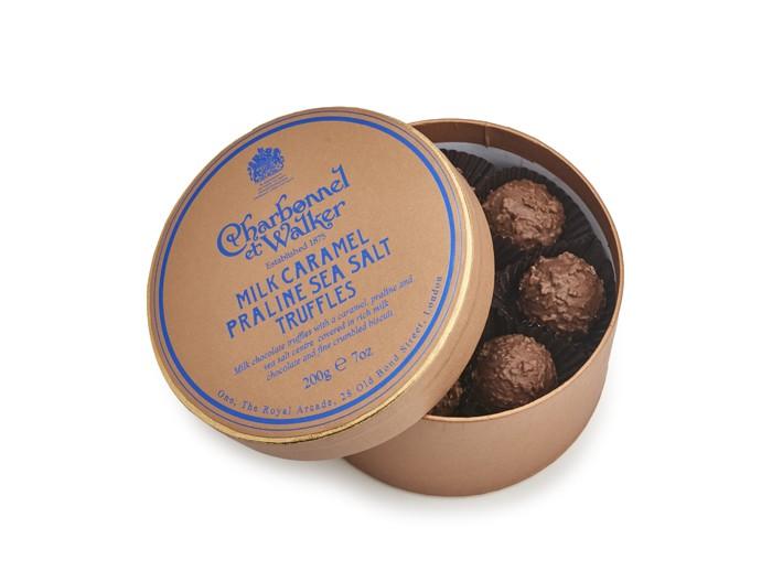 Charbonnel et Walker - Milk Caramel Praline Sea Salt Truffles, 200g/8 pieces