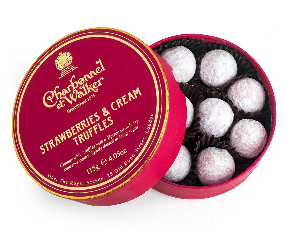 CHARBONNEL ET WALKER -   115g Strawberries & Cream Truffles