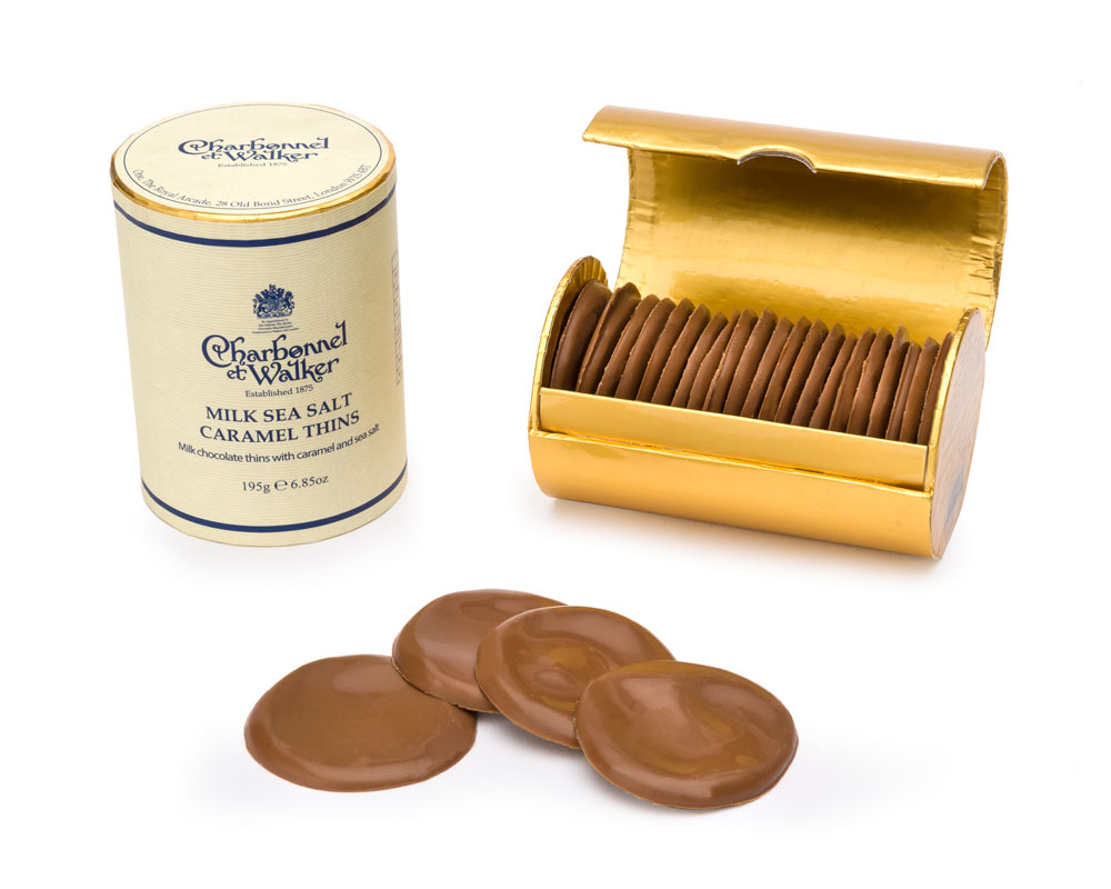 CHARBONNEL ET WALKER - Milk sea salt caramel thins, 200g