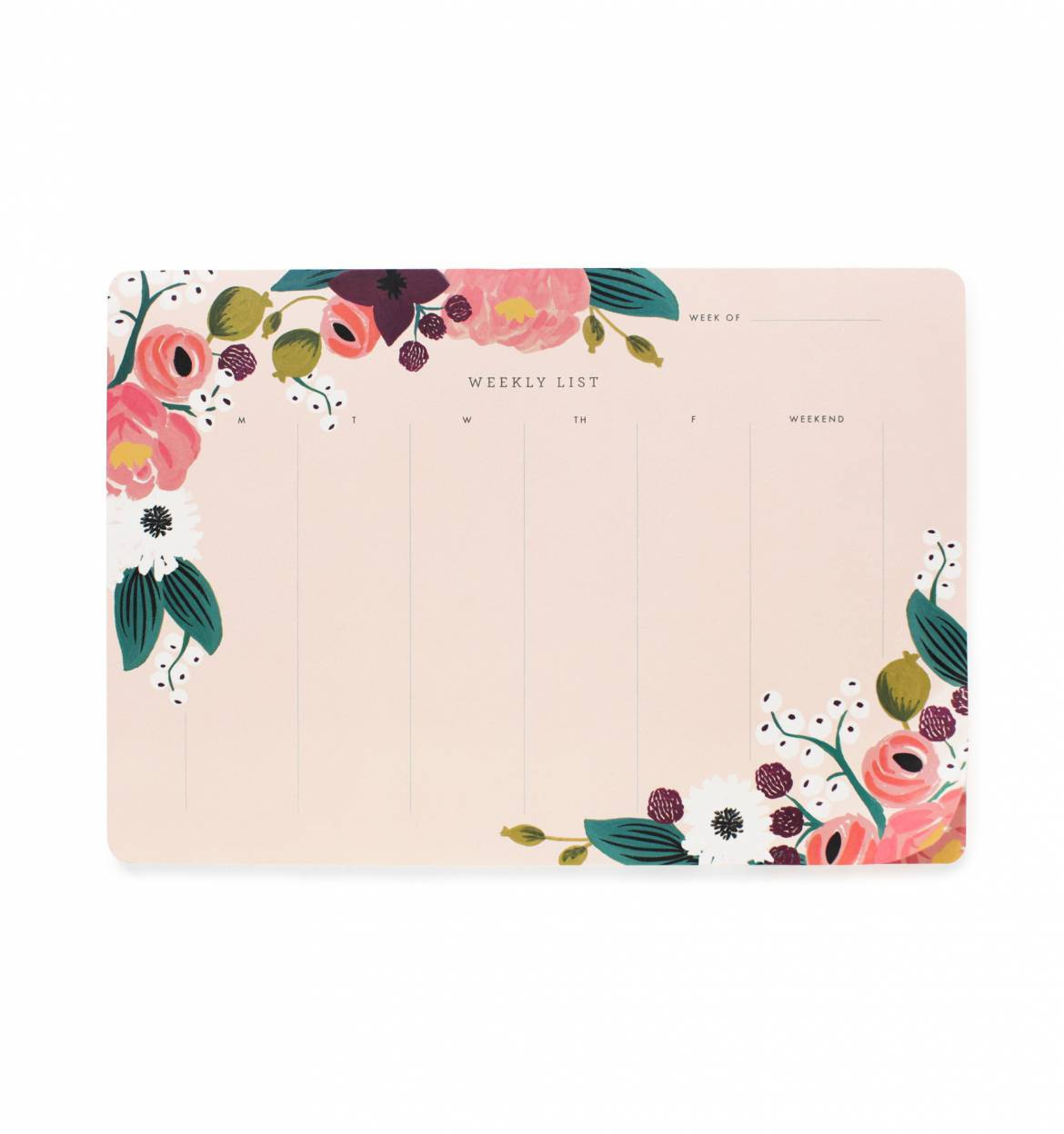 RIFLE - Desk pad, Pink Floral