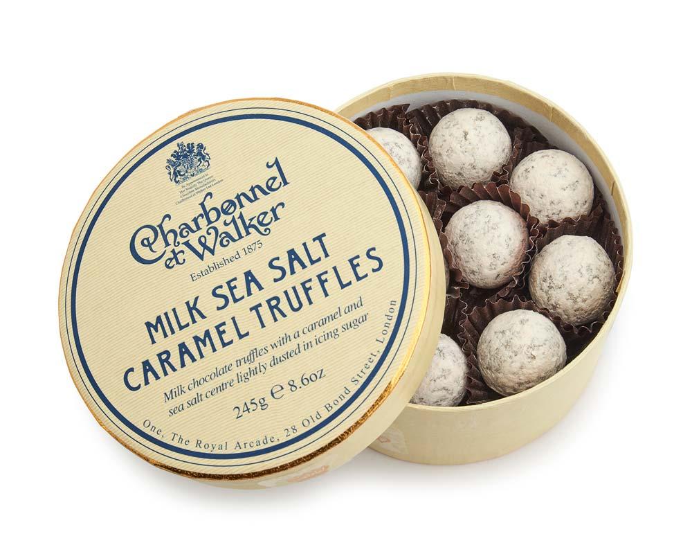 Charbonnel et Walker - Milk Sea Salt Caramel Truffles, 240g/16 pieces