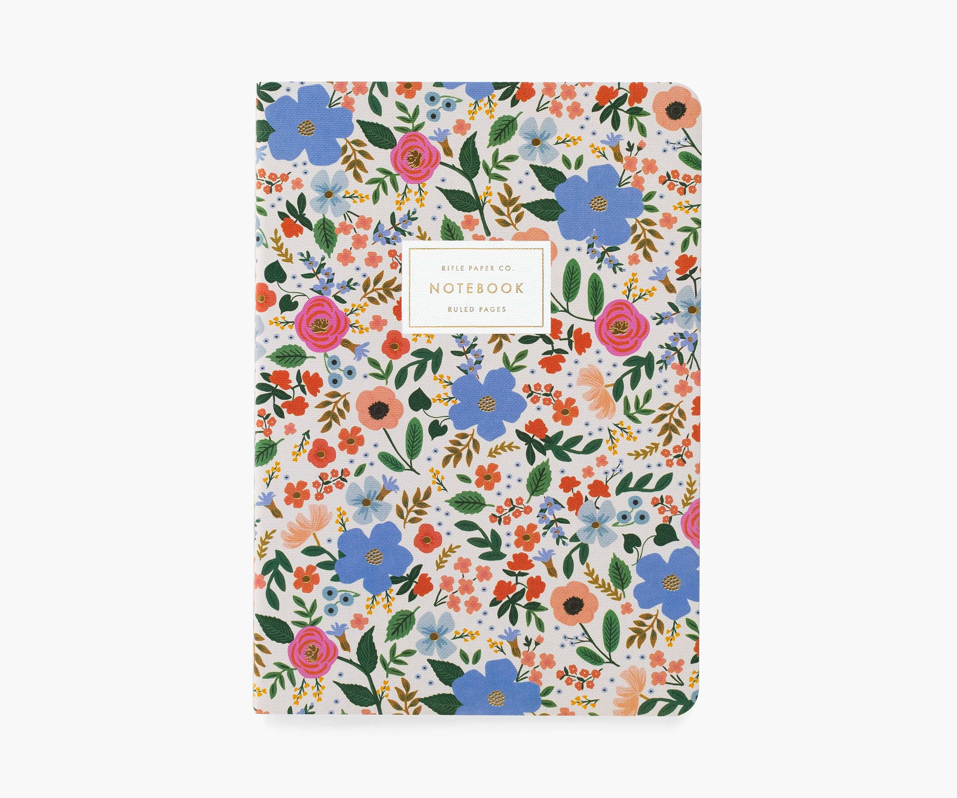 RIFLE - Wild Rose Stitched Notebook, White