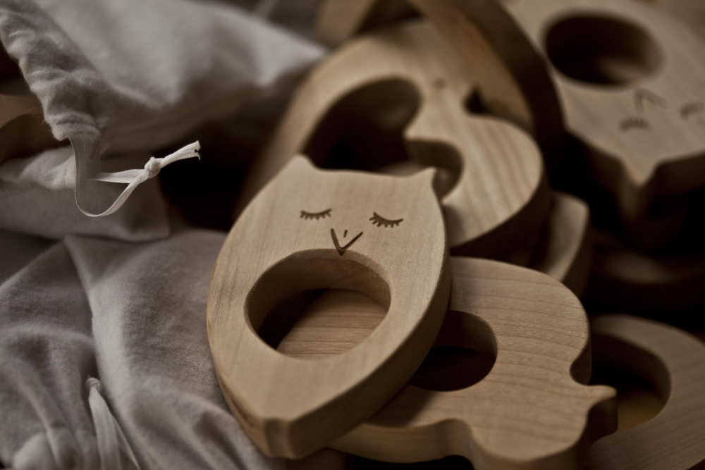 WOODEN STORY - Teether Owl