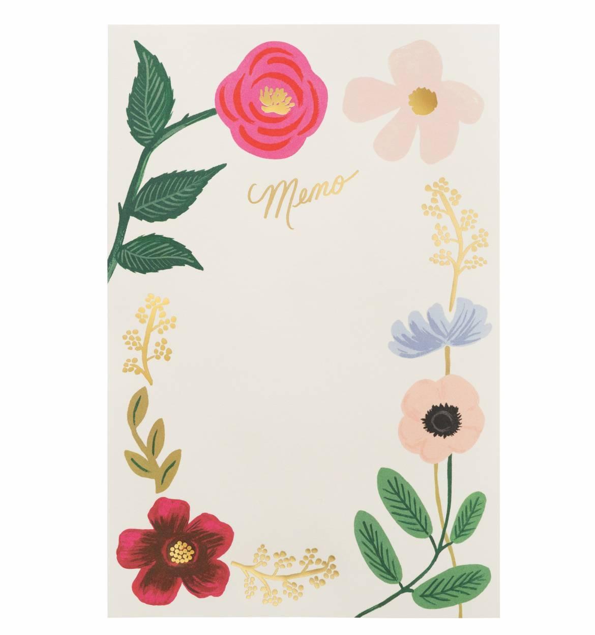 RIFLE - Memo Pad, Wildflower