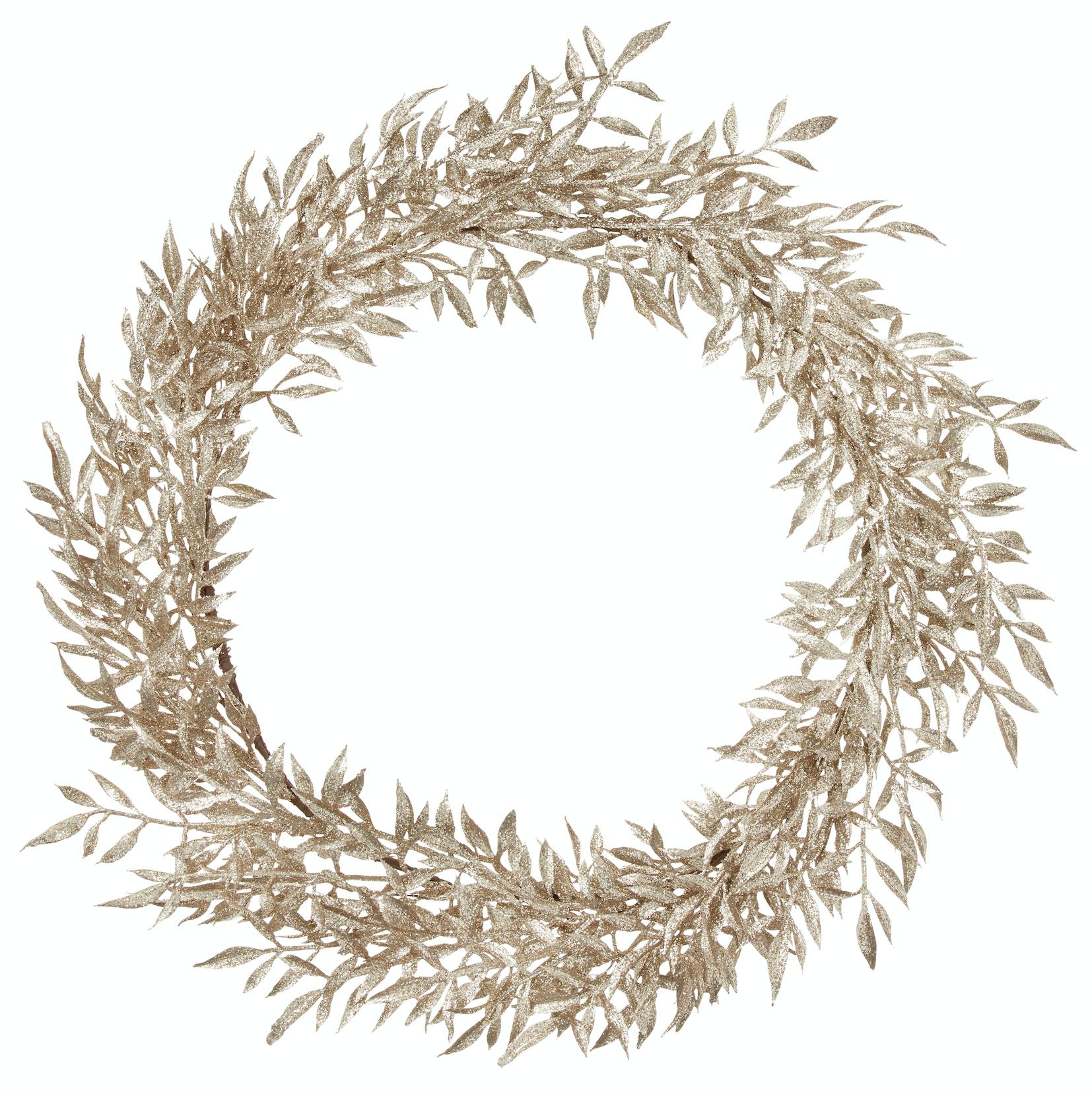 BUNGALOW - Decoration Wreath Glitter Gold L
