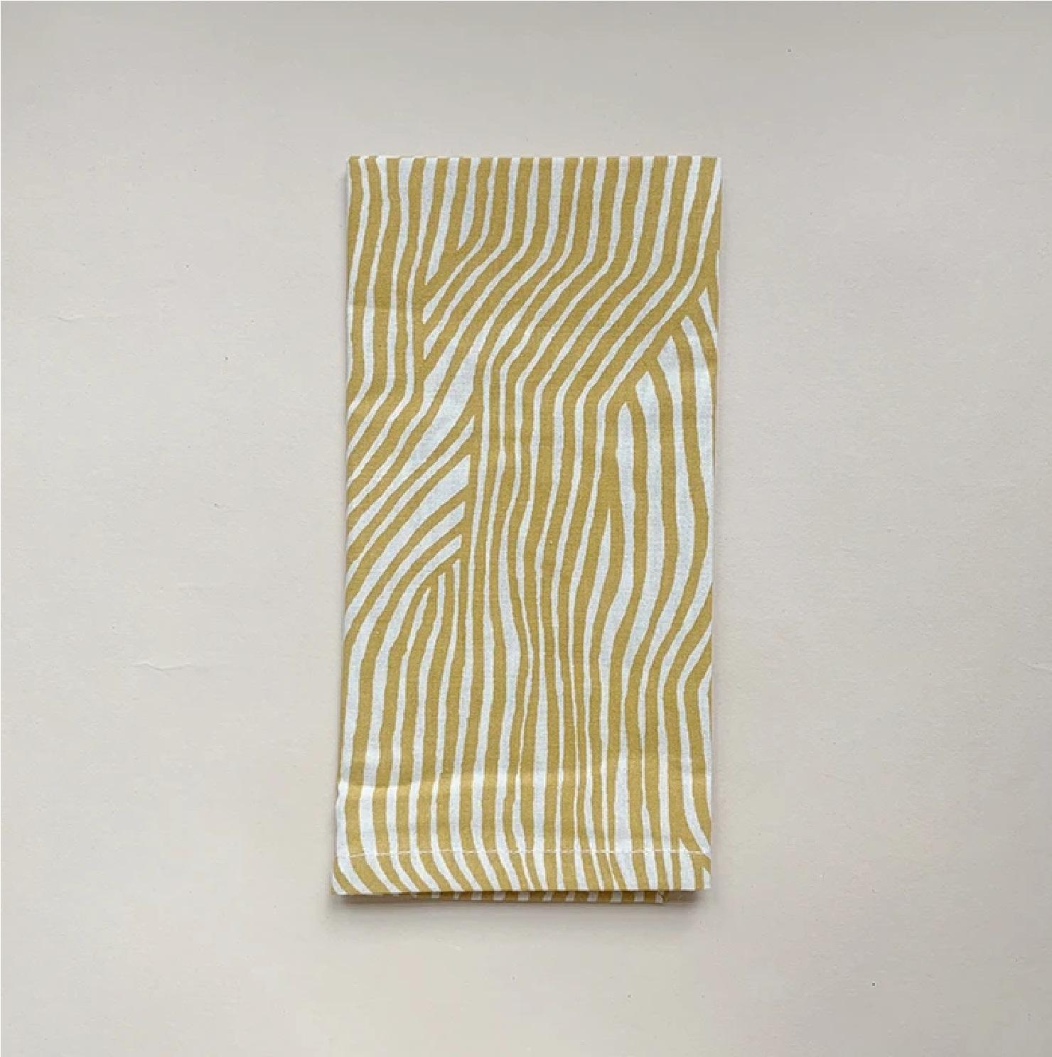 HAPS -  4 pk tekstilserviettar, Wave Mustard