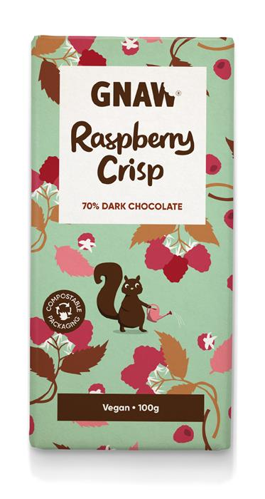 GNAW - Raspberry Crisp Dark Chocolate
