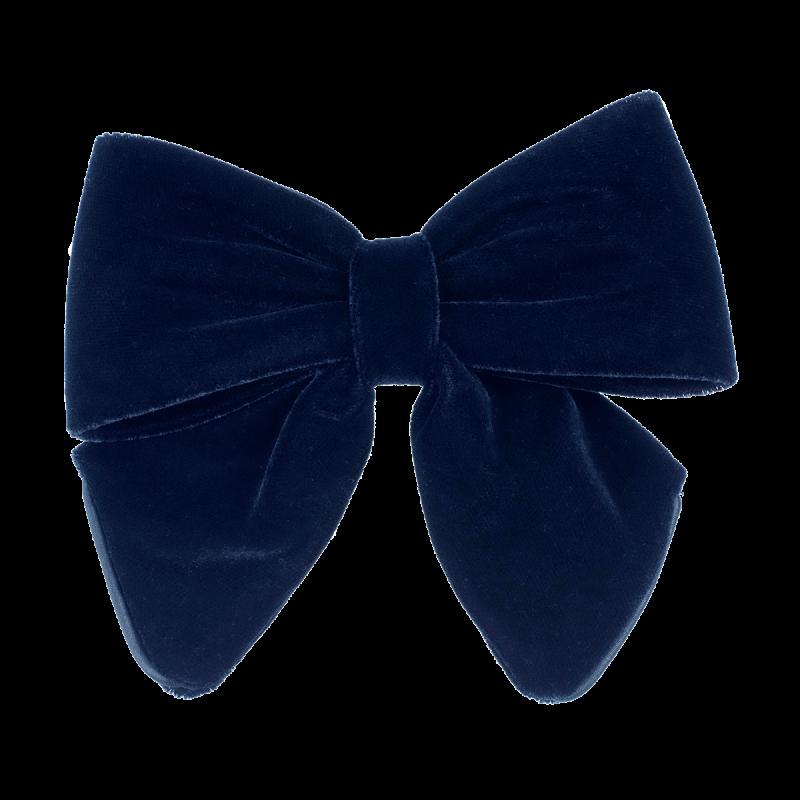 Velvet Bow Navy