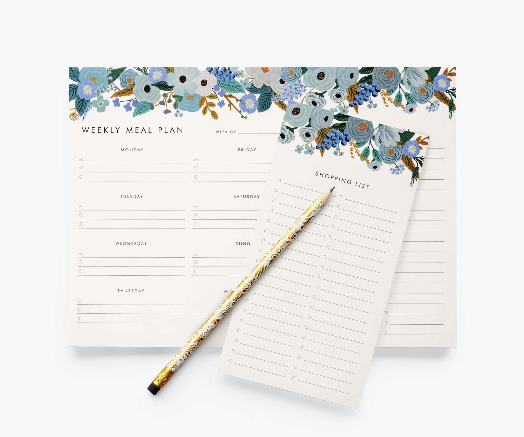 RIFLE - Garden Party Blue Meal Planner