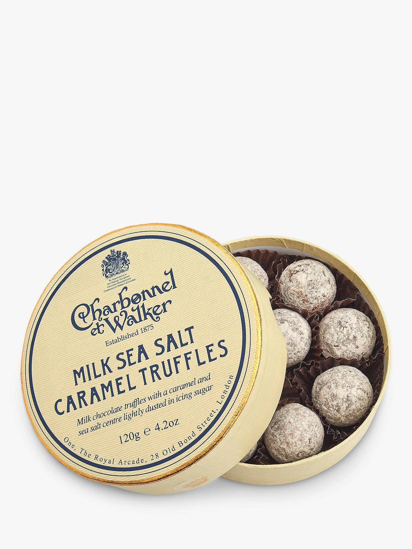 Charbonnel et Walker - Milk Sea Salt Caramel Truffles, 120g/8 pieces