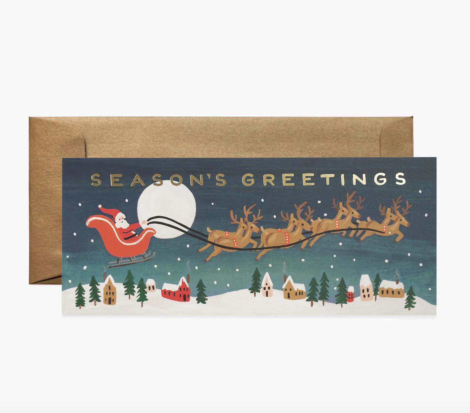 JULEKORT - Santa's Sleigh Card