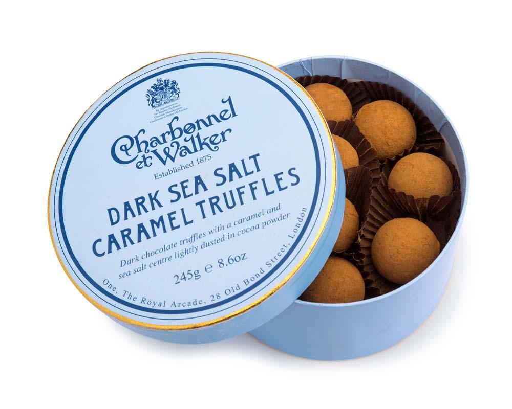 CHARBONNEL ET WALKER - 240g Dark Sea Salt Caramel Truffles