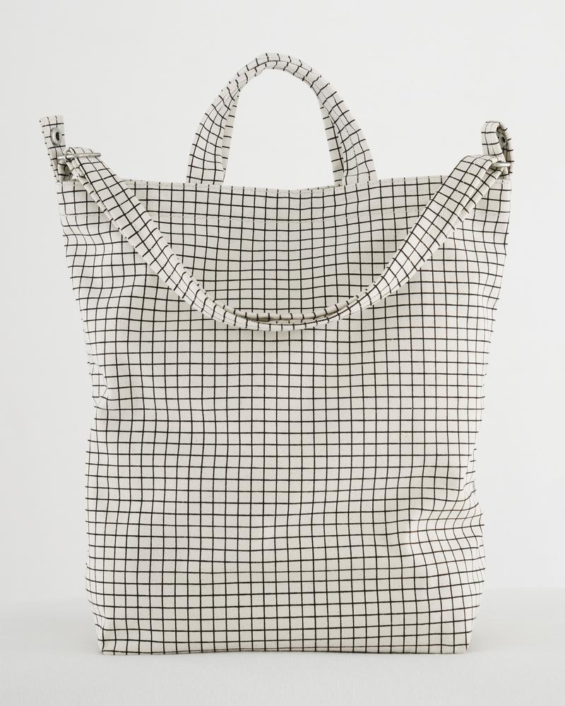 BAGGU - Duck Bag, Natural Grid