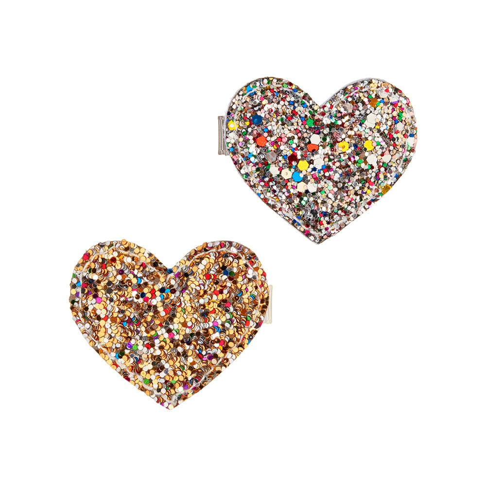Mimi & Lula - Dazzling Heart Clips Multi