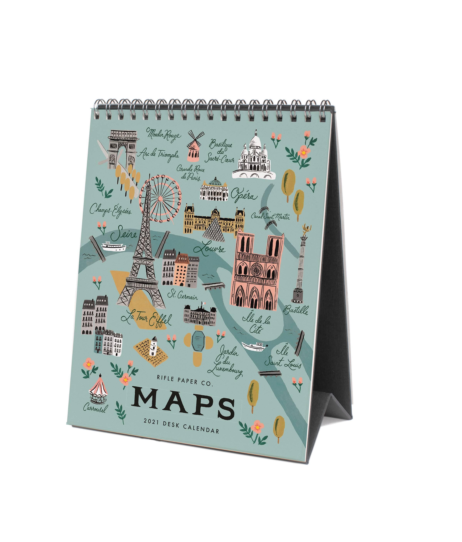 RIFLE - 2021 City Maps Desk Calendar