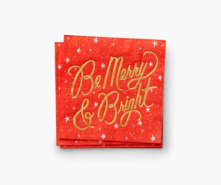 RIFLE - Be Merry & Bright Coctail Napkins