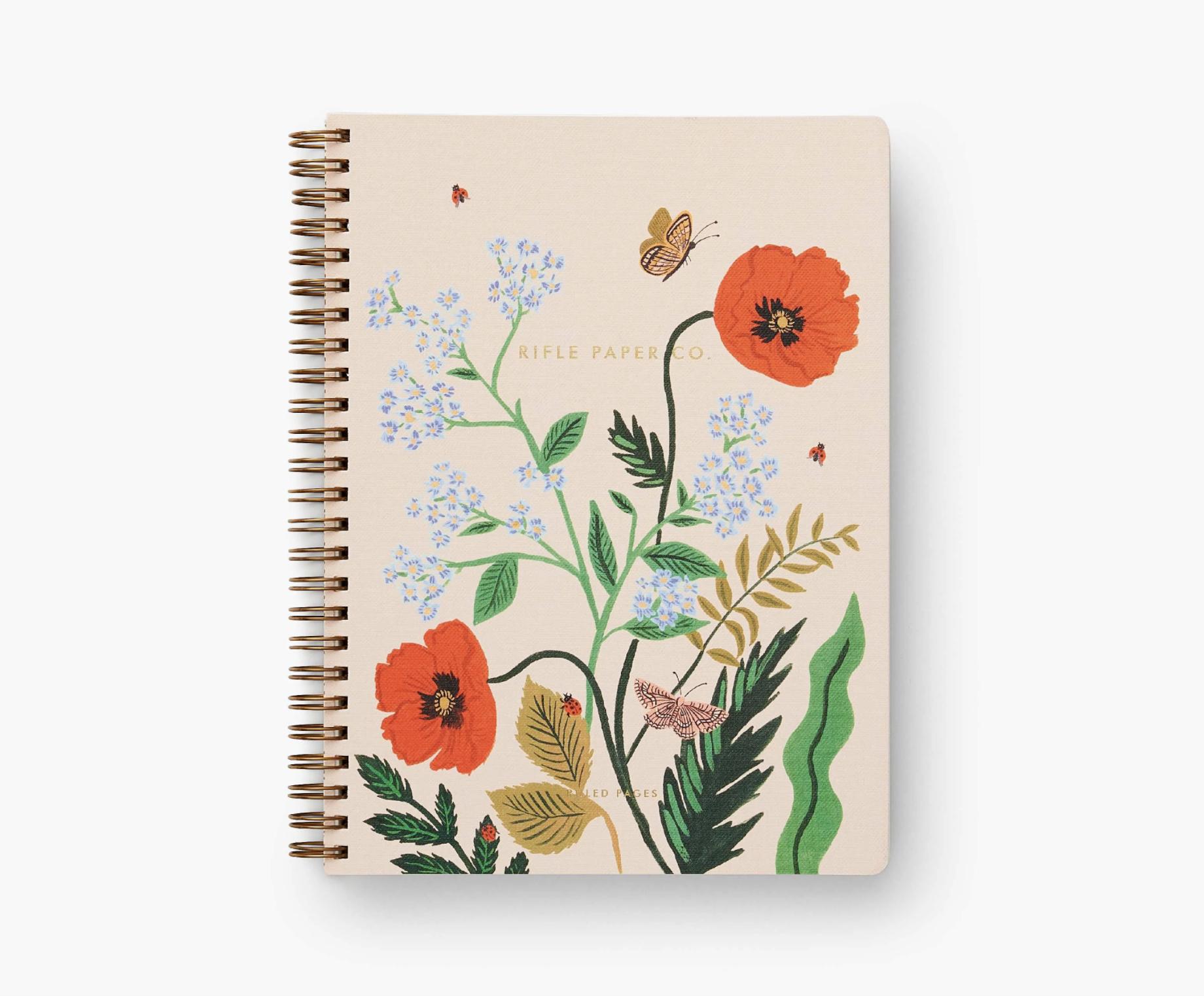 RIFLE - Poppy Botanical Spiral Notebook