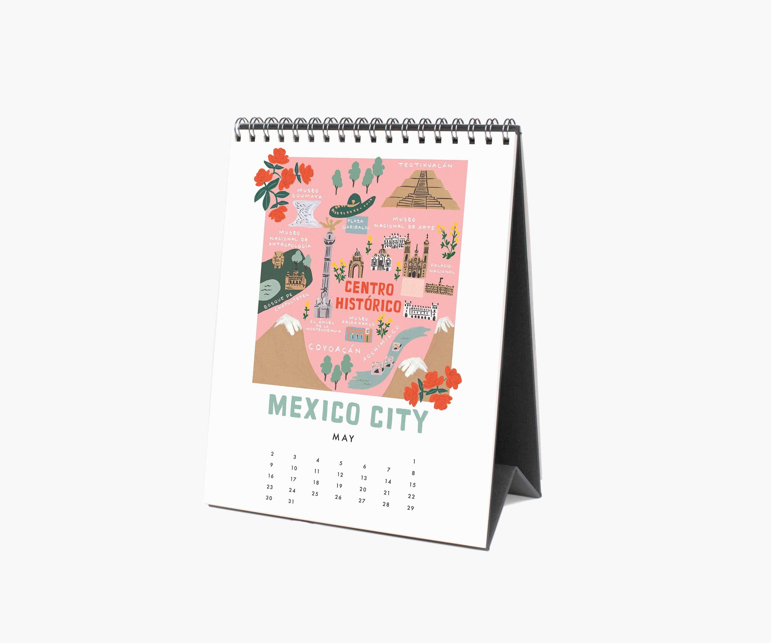 RIFLE - PRE-ORDER 2021 City Maps Desk Calendar