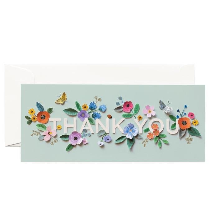 RIFLE - Kort, Cut Paper thank you card