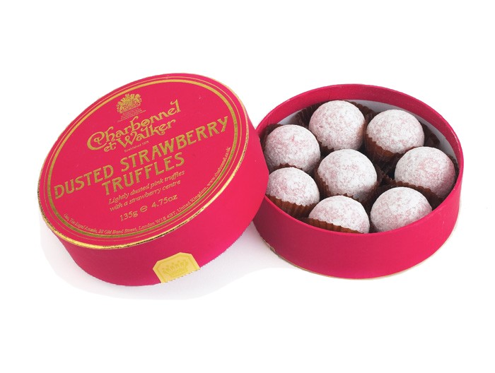 Charbonnel et Walker - Dusted Strawberry Truffles, 135 g/8 pieces