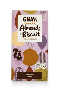 GNAW - Organic Milk Chocolate with Almonds & Biscuit