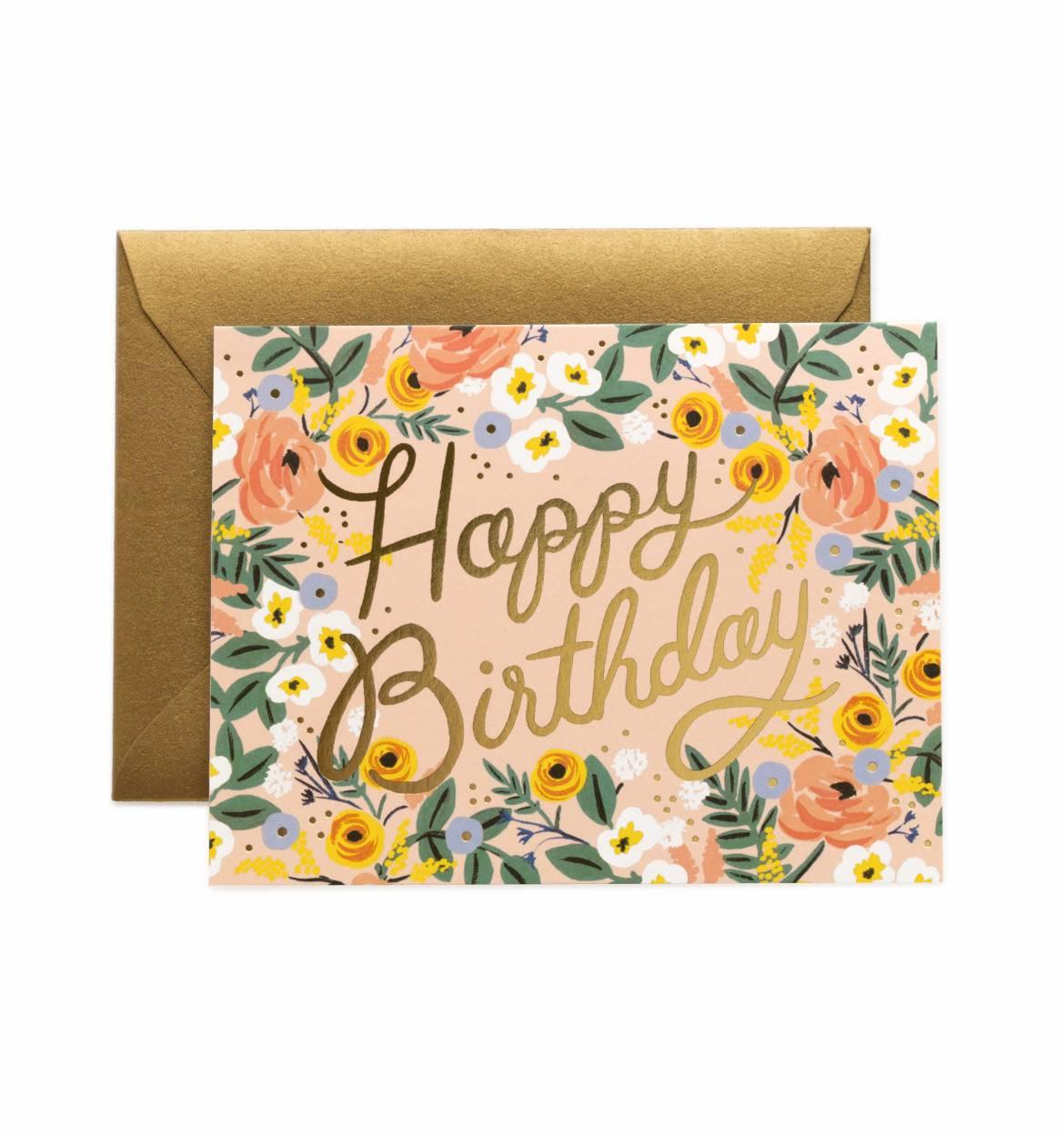 RIFLE - Kort, Rosé birthday
