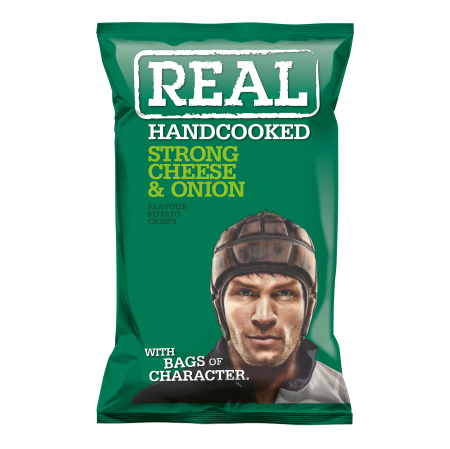 Real Crisps Chesee & Onion