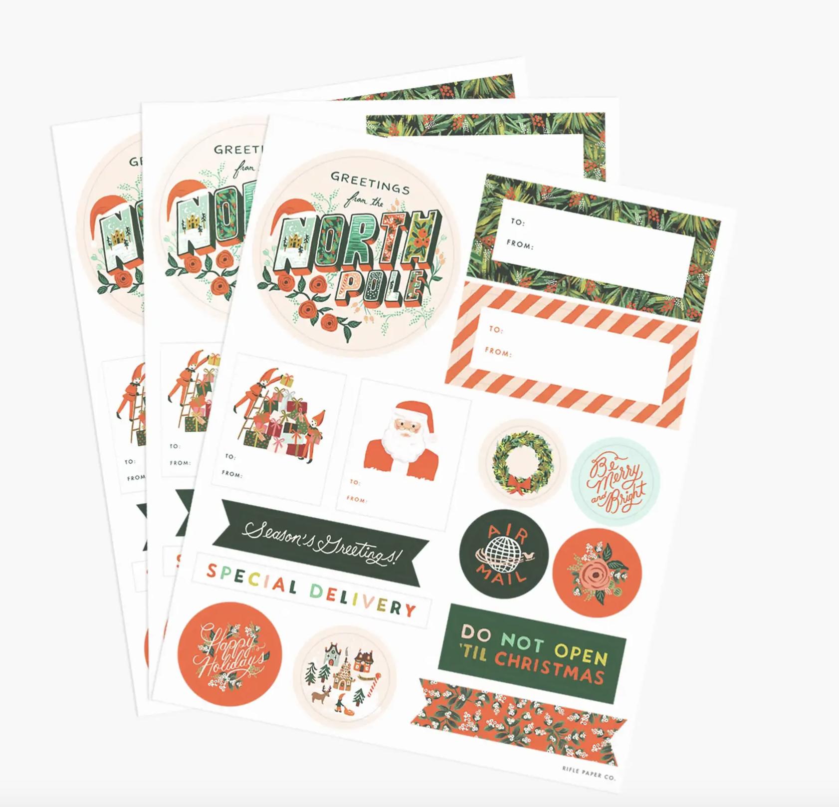 Season ́s Greetings Stickers & Labels