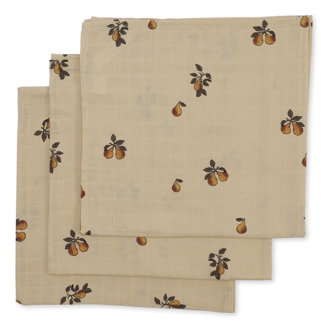 Konges Sløjd - 3 PACK MUSLIN CLOTH (Blossom mist birk)
