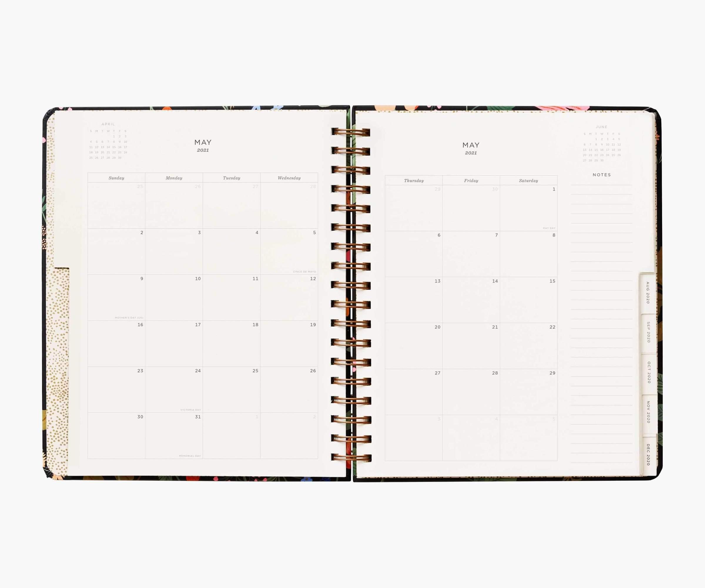 RIFLE - 2021 STRAWBERRY FIELDS SPIRAL 17 month planner